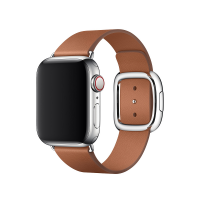 Apple Watch Modernes Lederarmband Sattelbraun