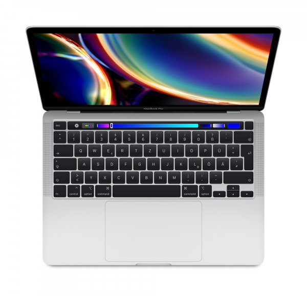 "Apple MacBook Pro 13"" 2020, 1.4 GHz i5, 8 GB, 256 GB SSD, Touch Bar und Touch ID, Silber"