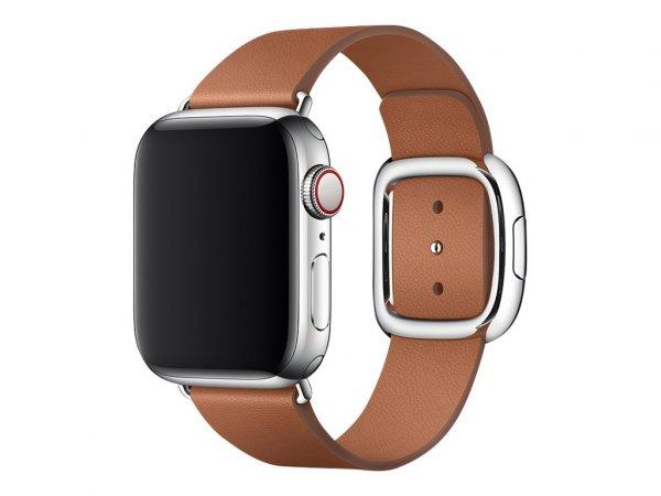 Apple Watch Modernes Lederarmband, 38 / 40mm, Sattelbraun, Large