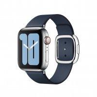 Apple Modernes Lederarmband Tiefseeblau