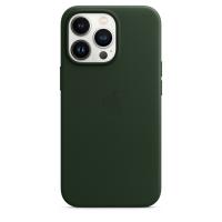 Apple Leder Case für iPhone 13 Pro Schwarzgrün