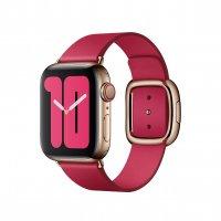 Apple Modernes Lederarmband Himbeere