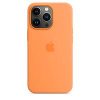 Apple Silikon Case für iPhone 13 Pro Gelborange