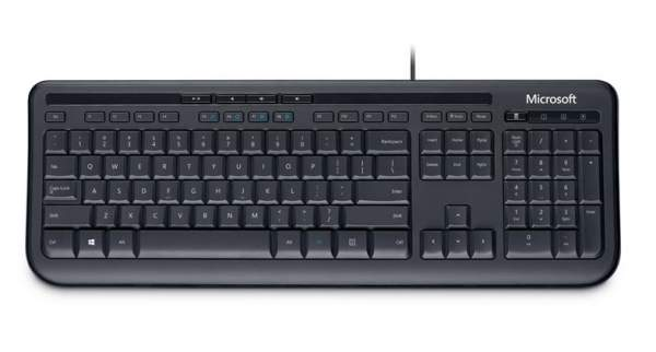 Microsoft Wired Keyboard 600, schwarz