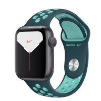 Apple Nike Sportarmband Midnight Turquoise/Aurora Green