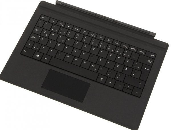 Microsoft Surface Type Cover Pro 3, Deutsch, Schwarz