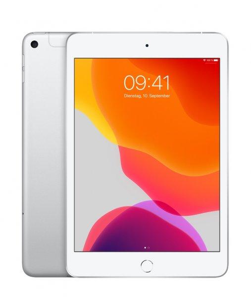 Apple iPad mini (5. Gen.), 64GB, Wi-Fi + Cellular, Silber