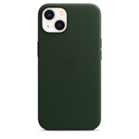 Apple Leder Case für iPhone 13 Schwarzgrün