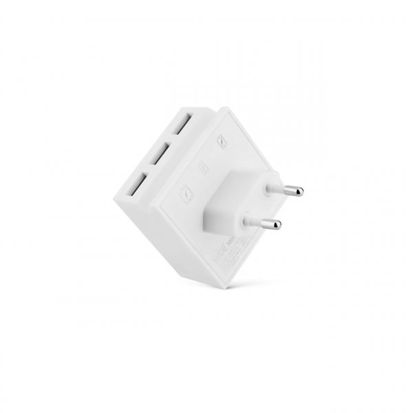 usbepower HIDE Mini 3-in-1 wall-charger, weiß