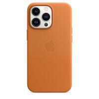 Apple Leder Case für iPhone 13 Pro Goldbraun