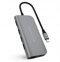 Drive POWER Hub 9-in-1 für Apple MacBook & USB-C Notebooks Space Grau