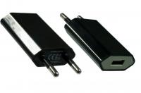 DINIC Ladeadapter mit USB Anschluss Schwarz