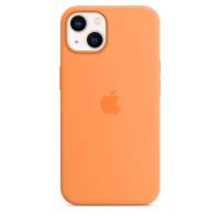 Apple Silikon Case für iPhone 13 Gelborange