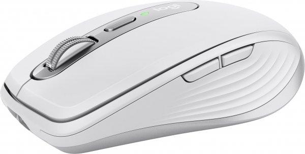 Logitech Wireless MX Anywhere 3 für Mac, 6 Tasten, Hellgrau