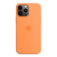 Apple Silikon Case für iPhone 13 Pro Max Gelborange