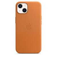 Apple Leder Case für iPhone 13 Goldbraun