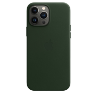Apple Leder Case für iPhone 13 Pro Max Schwarzgrün