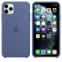 Apple iPhone Silikon Case Leinenblau