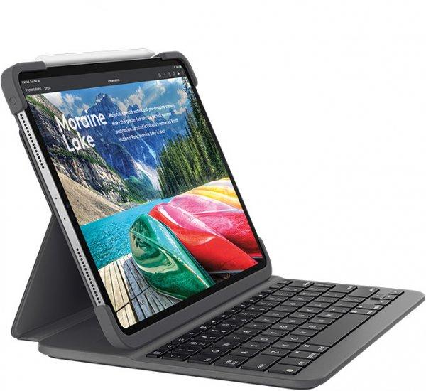 """Logitech Slim Folio Pro für iPad Pro 12.9"""" (3.Generation), Tastatur, Schwarz"""
