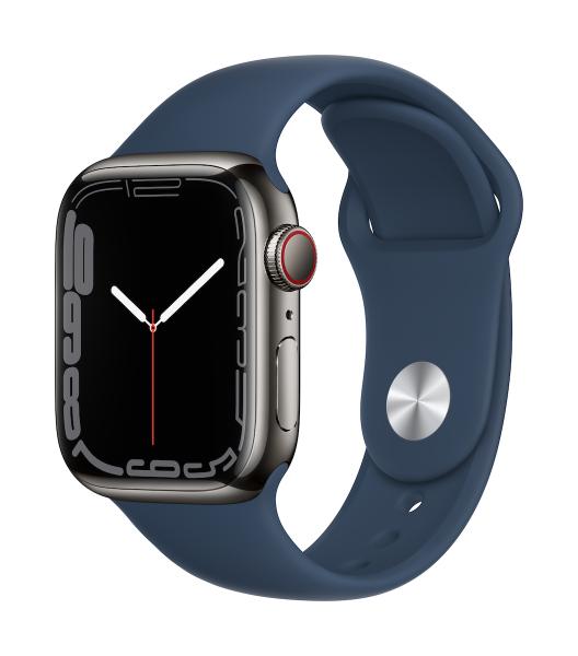 Apple Watch Series 7 Edelstahl Graphit