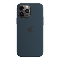 Apple Silikon Case für iPhone 13 Pro Max Abyssblau