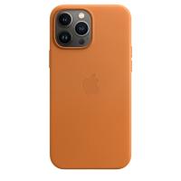Apple Leder Case für iPhone 13 Pro Max Goldbraun