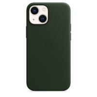 Apple Leder Case für iPhone 13 mini Schwarzgrün