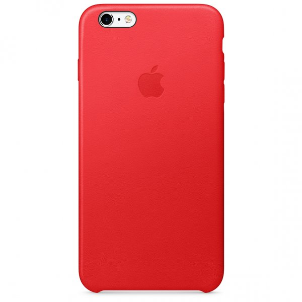 Apple iPhone 6s Plus Leder Case, Rot PRODUCT RED