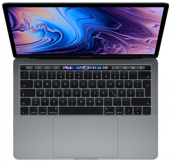 "Apple MacBook Pro 13"", 2.4 GHz i5, 16 GB, 256 GB SSD, Touch Bar und Touch ID,Silber"