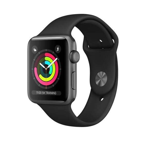 Apple Watch Series 3 Aluminium Space Grau