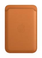 Apple iPhone Leder Wallet Goldbraun