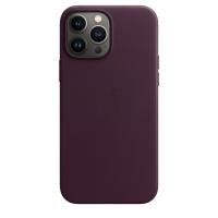 Apple Leder Case für iPhone 13 Pro Max Dunkelkirsch